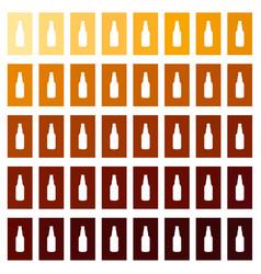 beer bottle craft vintage type infographic chart vector image vector image