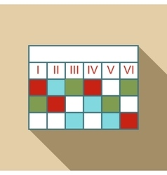 Business calendar infographic icon flat style vector image