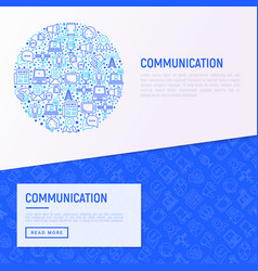 communication concept in circle vector image