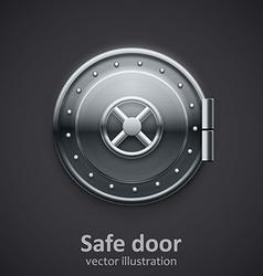 metal safe door realistic 3d object vector image