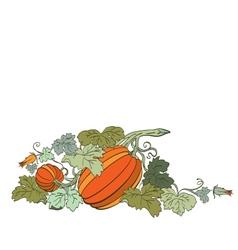 Pumpkin Background seamless pattern vector image vector image