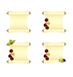 Set of xmas manuscripts vector image vector image
