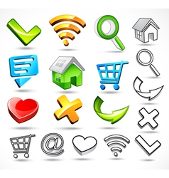 computer symbols and icons vector image