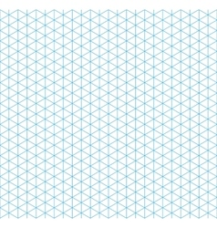 Cyan isometric grid with vertical guideline vector image vector image