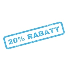 20 Percent Rabatt Text Rubber Stamp vector