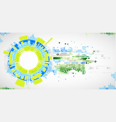 abstract technological background with various vector image