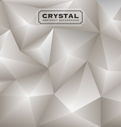 Abstract white diamond polygon background vector image