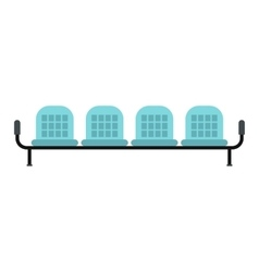 Airport seats icon vector