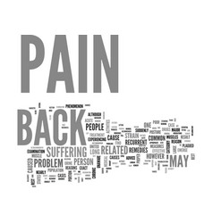 Back pain a result of poor posture or muscle vector