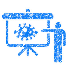 Bacteria lecture grunge icon vector