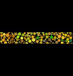 banner of circles vector image