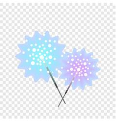 Bengal light stick icon flat style vector