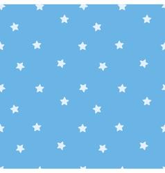 Blue star seamless pattern Stars on sky blue vector