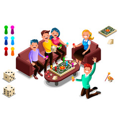 Board games adults leisure vector