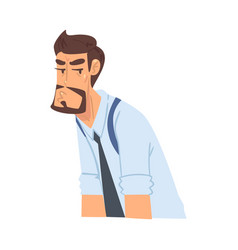 bored businessman funny office worker character vector image