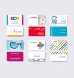 business card design templates big set vector image