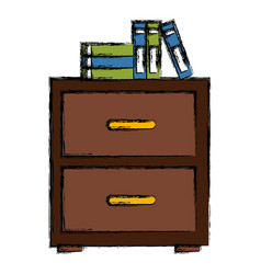 Cabinet with files vector
