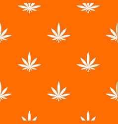 cannabis leaf pattern seamless vector image