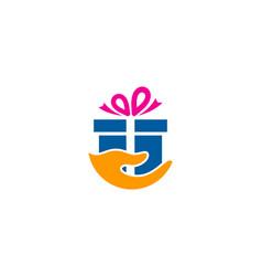 care gift logo icon design vector image
