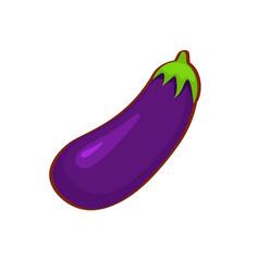 Cartoon eggplant vector