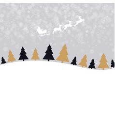 Christmas wallpaper with xmas tree vector