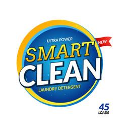 Clean laundry detergent design wash powder vector