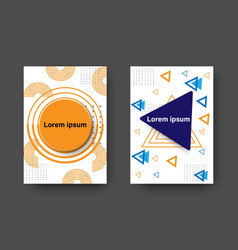collection memphis cover with geometric shapes vector image