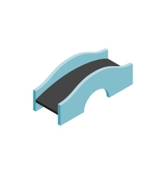 Concrete arched bridge icon isometric 3d style vector