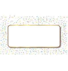 Copy space confetti party background vector