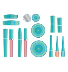 cosmetics set 3 vector image
