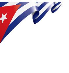 cuba flag on a white vector image