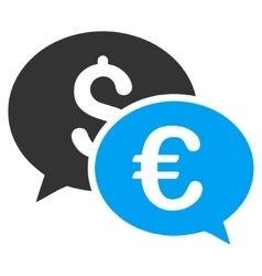 Currency Transactions Flat Icon vector image