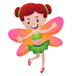 cute fairy with orange wings vector image