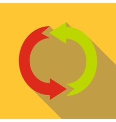 Cycle circle diagram icon flat style vector