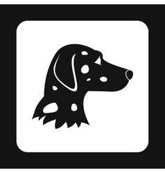 Dalmatians dog icon simple style vector