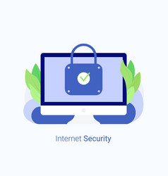 data protection internet security concept vector image