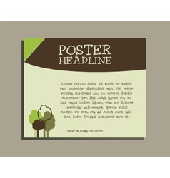 Ecology banner go organic and go natural poster vector