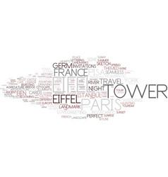 Eifel word cloud concept vector