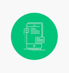 Frontend interface mobile phone developer white vector