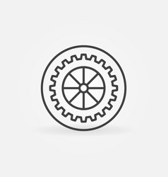 gear in circle outline concept icon vector image
