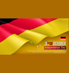 germany independence day horizontal web banner vector image