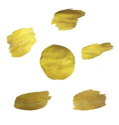 golden blots set vector image