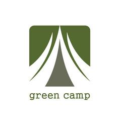 Green camp logo vector