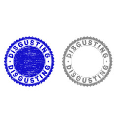 Grunge disgusting textured stamp seals vector