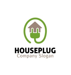 House Plug Design vector