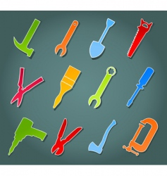 icons of tools vector image