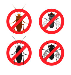 insects warning signs vector image