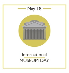 International museum day vector