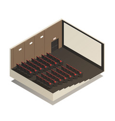 isometric cinema composition vector image
