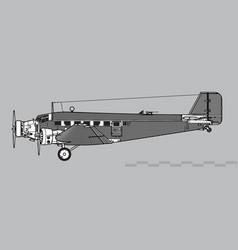 Junkers ju 52 vector